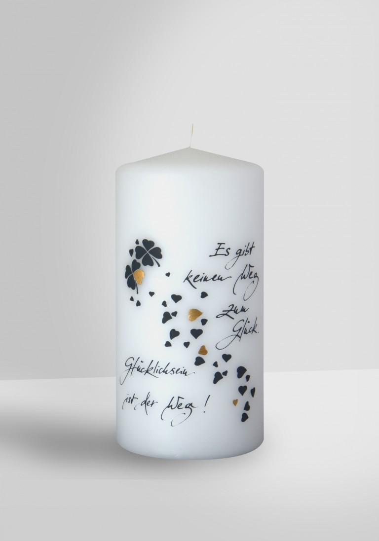 Poesie Kerze - Weg zum Glück - 14070-10