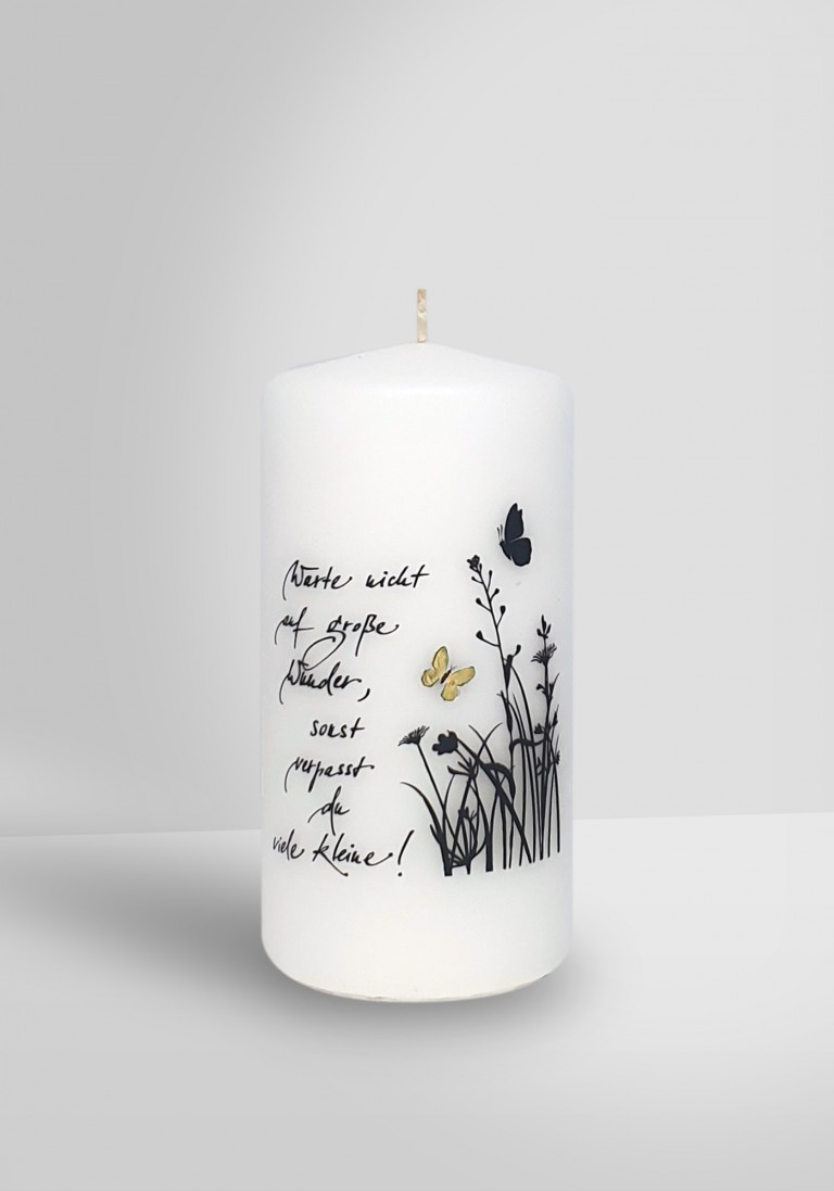 Poesie-Kerze - Große Wunder - 14070-10