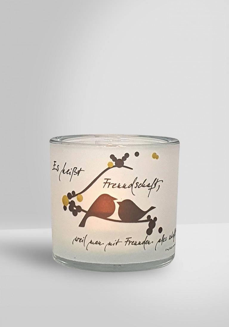"""Poesie-Glaslicht """"Freunde"""""""